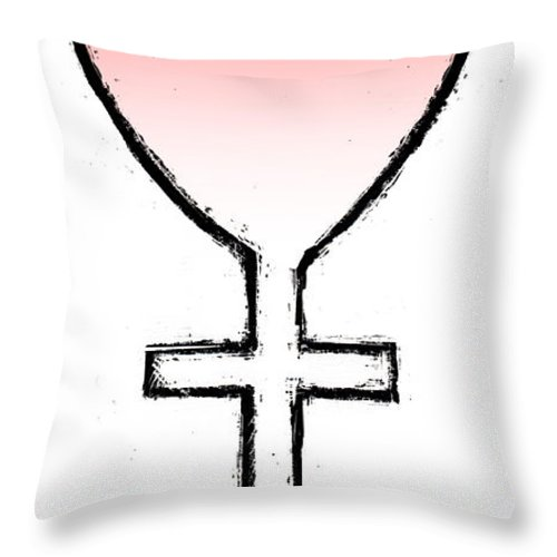 Mom Throw Pillow featuring the drawing Mom by Chris Van Es