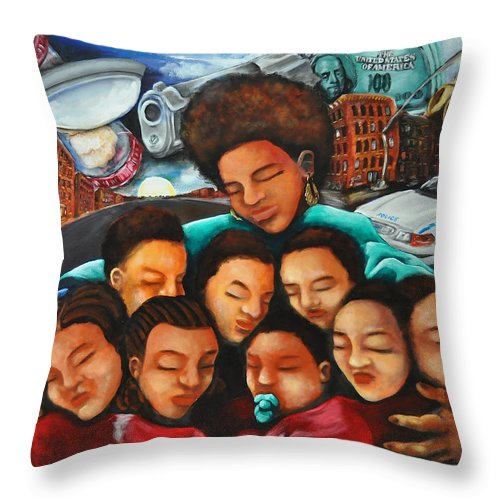 Mother Throw Pillow featuring the painting Momma by Ka-Son Reeves