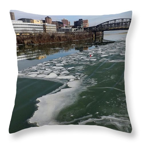 Water Throw Pillow featuring the photograph Mon From Smithfield #1 by Joyce Wasser
