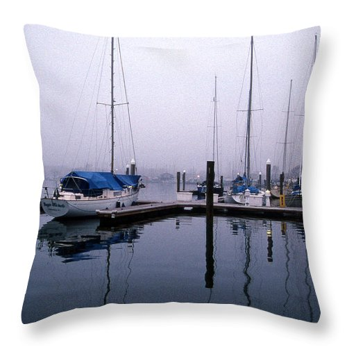 Sailing Gear Throw Pillow featuring the photograph Monday Morning by Skip Willits