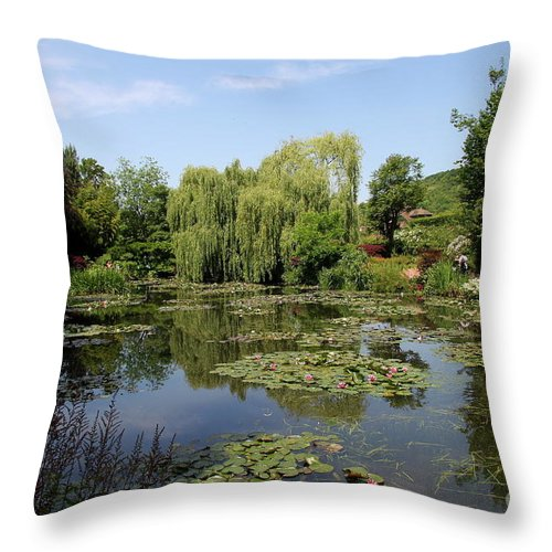 Pond Throw Pillow featuring the photograph Monets Waterlily Pond by Christiane Schulze Art And Photography