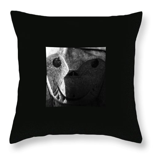 Comment Throw Pillow featuring the photograph Monkey Face by Jonathan Palmer