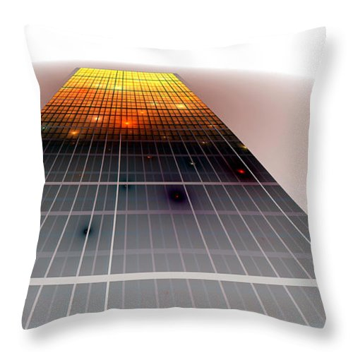Fractal Throw Pillow featuring the digital art Monolith by Richard Ortolano