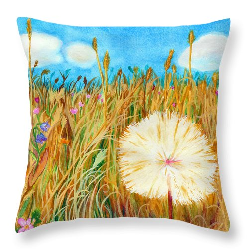 C Sitton Paintings Throw Pillow featuring the painting Montana Hike by C Sitton
