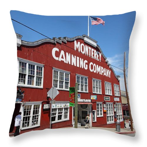Monterey Throw Pillow featuring the photograph Monterey Cannery Row California 5d25045 by Wingsdomain Art and Photography