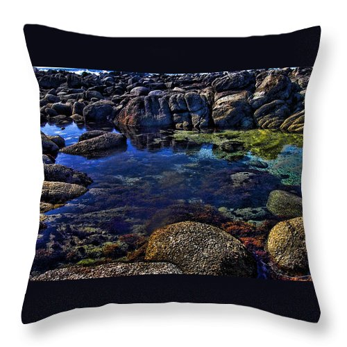 Ocean Throw Pillow featuring the photograph Monterey Pool by Joe Bledsoe