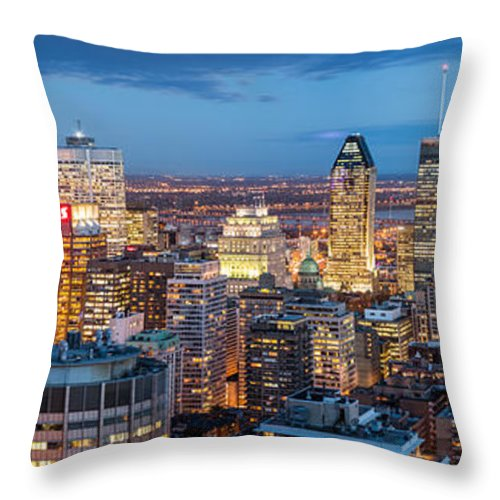 Canada Throw Pillow featuring the photograph Montreal Panorama by Mihai Andritoiu