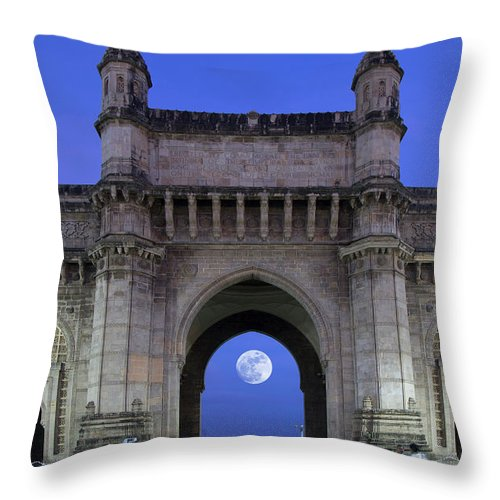 Arch Throw Pillow featuring the photograph Monument Entrance by Grant Faint