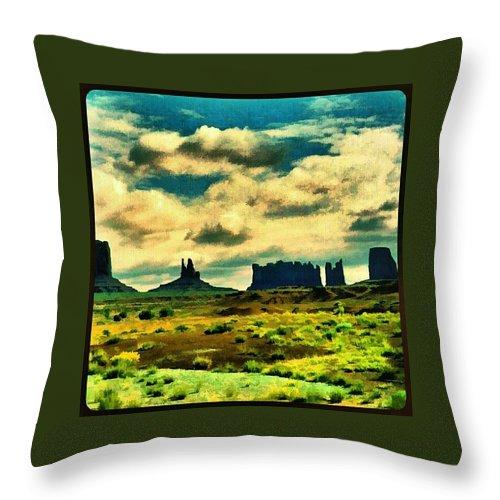 Monument Valley Az Ut Usa Throw Pillow For Sale By Hans Fotoboek 20 X 20