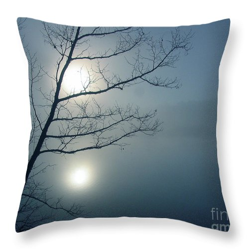 Tree Throw Pillow featuring the photograph Moody Blue by Douglas Stucky