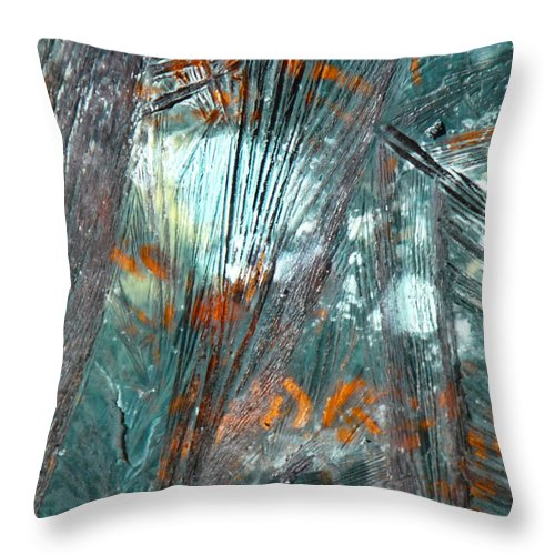 Ice-painting Throw Pillow featuring the photograph Moon Flower by Chris Sotiriadis