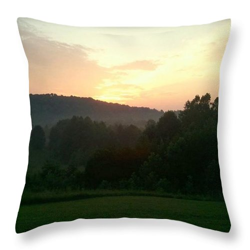 Farm Throw Pillow featuring the photograph Moon Flower Sunrise by Daniel Jakus