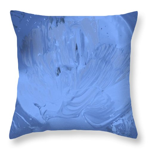 Original Throw Pillow featuring the painting Moon Light In by Artist Ai
