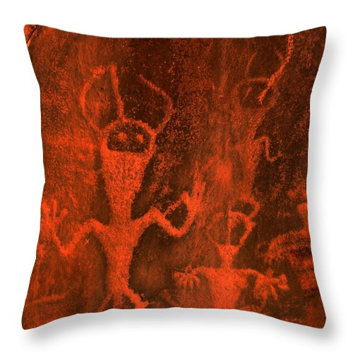 'petrographs Throw Pillow featuring the photograph Moon Men by Barry Fineberg