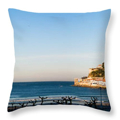 Bay Throw Pillow featuring the photograph Moon Over The Bay by Weston Westmoreland