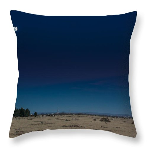 Landscape Photography Throw Pillow featuring the photograph Moon Over Watch by Michael Taylor