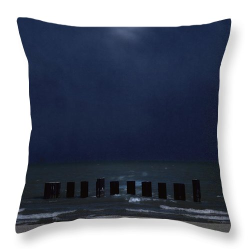 Water Throw Pillow featuring the photograph Moon Over Waters by Margie Hurwich