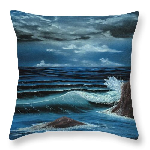 Moonlight Throw Pillow featuring the painting Moonlight by Dave Carr
