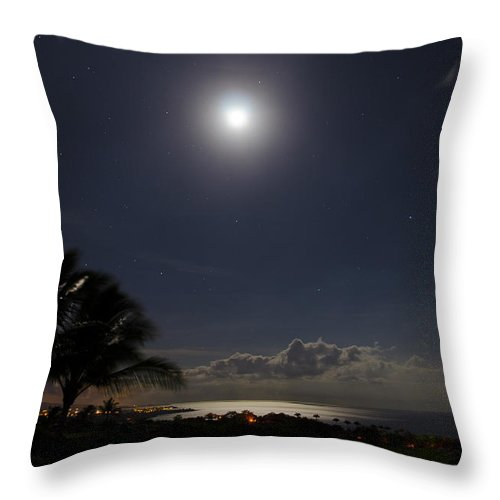 Moon Throw Pillow featuring the photograph Moonlit Bay by Daniel Murphy