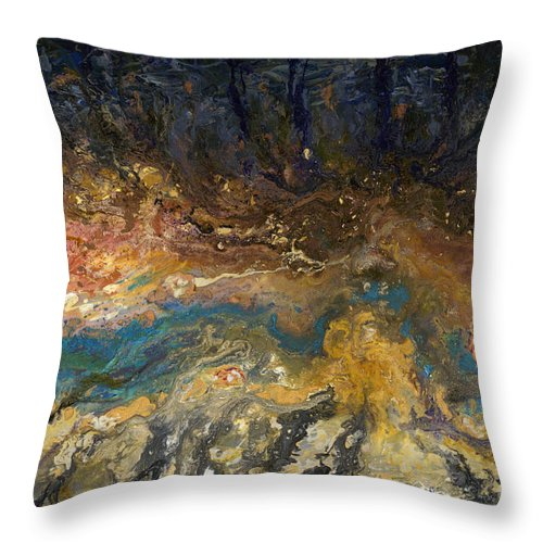 Beach Throw Pillow featuring the painting Moonlit Beach by Nadine Rippelmeyer