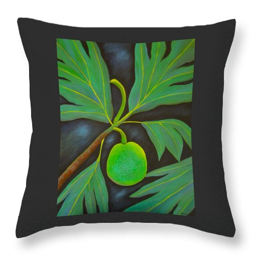 Tree Throw Pillow featuring the painting Moonlit Pana by Maureen Schmidt