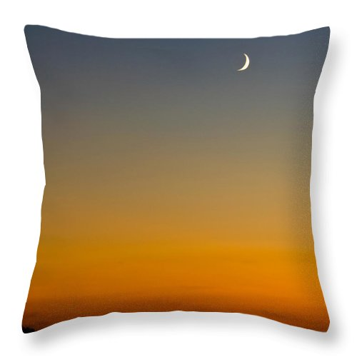 Moonscape Throw Pillow featuring the photograph Moonscape by Timothy Flanigan