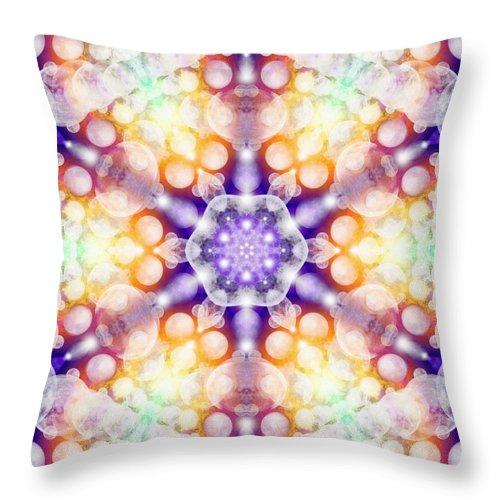 Moonstar Alpha Throw Pillow featuring the digital art Moonstar Alpha by Derek Gedney