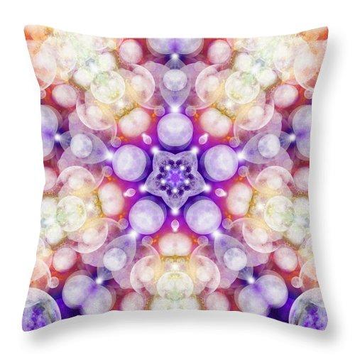 Moonstar Delta Throw Pillow featuring the digital art Moonstar Delta by Derek Gedney