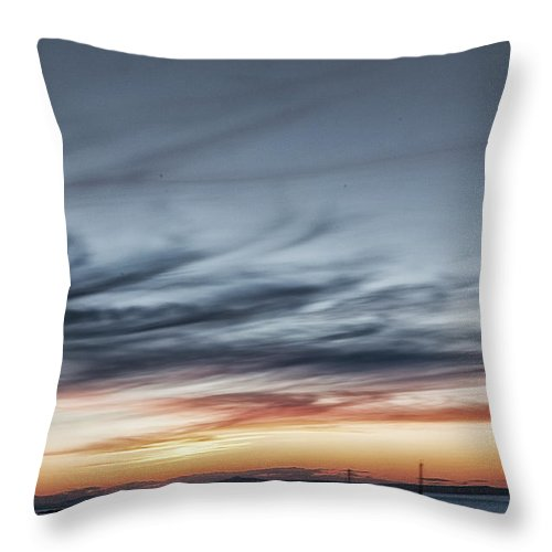 Seascape Throw Pillow featuring the photograph Moored by Jean-Noel Nicolas