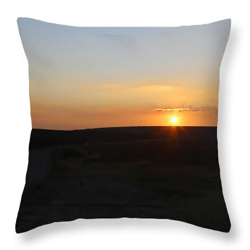 Moorland Throw Pillow featuring the photograph Moorland Sunset by Kevin Round