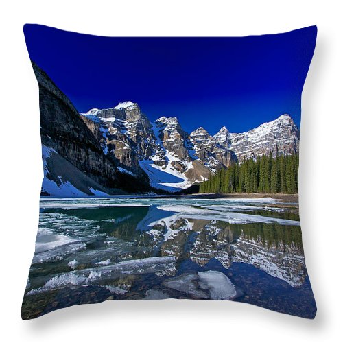 Moraine Lake Throw Pillow featuring the photograph Moraine Lake by Stuart Litoff