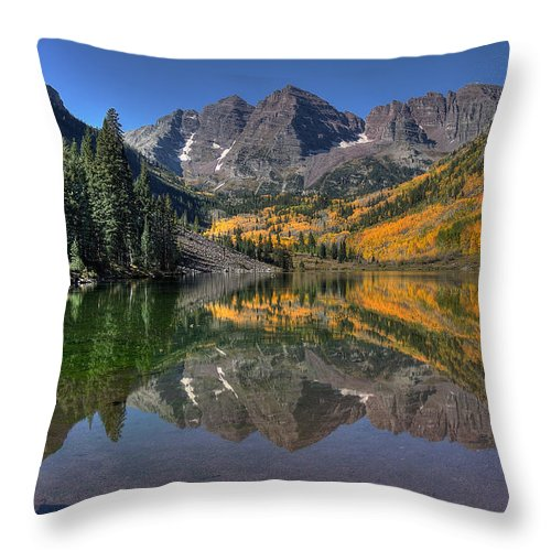 Maroon Bells Throw Pillow featuring the photograph Morning Bells by Ryan Smith