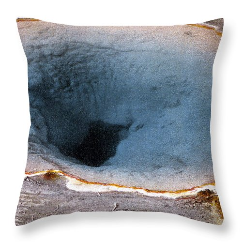 History Throw Pillow featuring the photograph Morning Glory Pool Yellowstone Np by NPS Photo Frank J Haynes