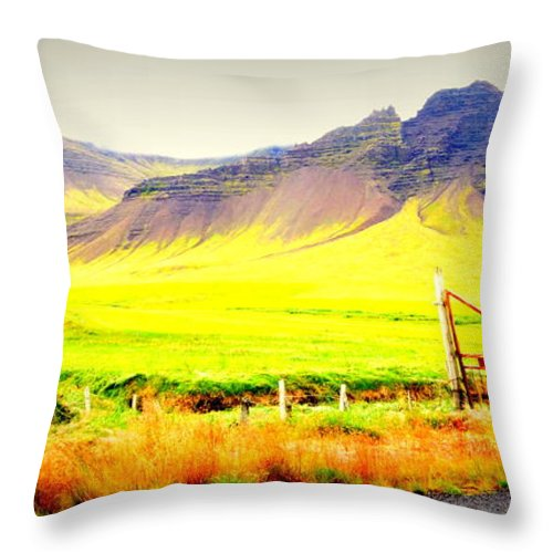 Iceland Throw Pillow featuring the photograph Morning Has Broken And It Will Probably Break Again by Hilde Widerberg