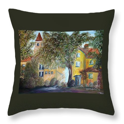 Tuscany Throw Pillow featuring the painting Morning In The Old Country by Eloise Schneider Mote
