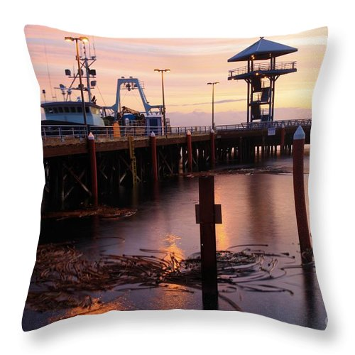 Port Angles Throw Pillow featuring the photograph Morning Light At Port Angeles by Adam Jewell