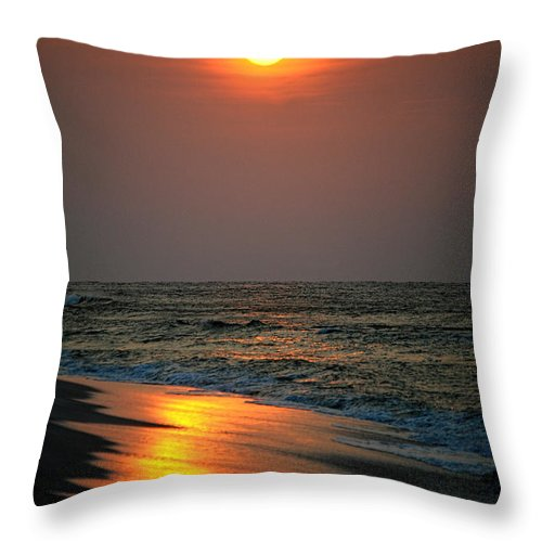 Palm Throw Pillow featuring the digital art Morning Light by Michael Thomas