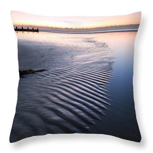 Beach Throw Pillow featuring the photograph Morning by Matthew Gibson