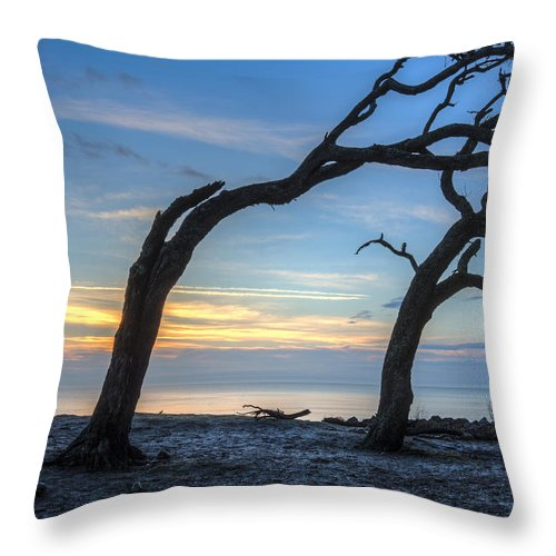 Clouds Throw Pillow featuring the photograph Morning Mood by Debra and Dave Vanderlaan