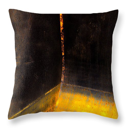 Abstract Throw Pillow featuring the photograph Morning Never Waits by The Artist Project