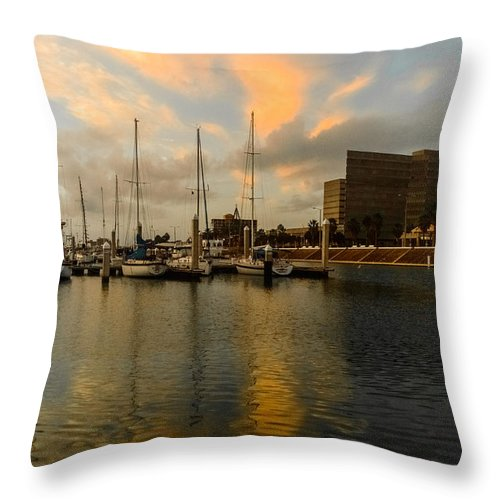 Reflections Throw Pillow featuring the photograph Morning Reflections by Leticia Latocki