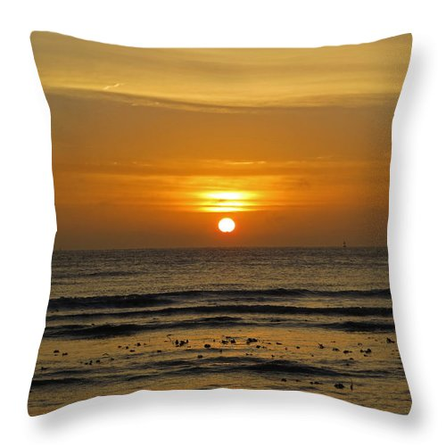 Morning Throw Pillow featuring the photograph Morning Sun by Julia Hoefer-von Seelen