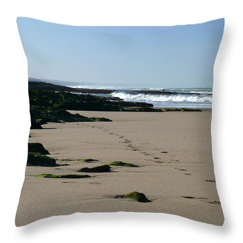 Agadir Throw Pillow featuring the photograph Moroccan Beach by Tracy Winter