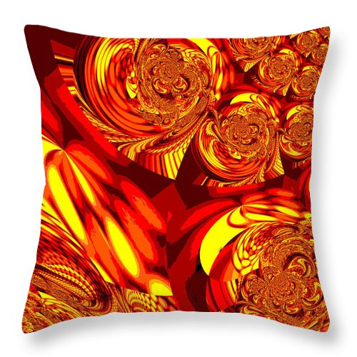 Moroccan Throw Pillow featuring the digital art Moroccan Lights - Orange by Absinthe Art By Michelle LeAnn Scott