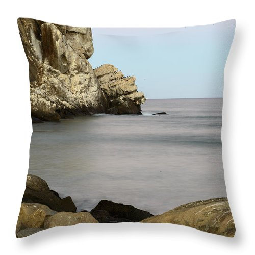 Morro Bay Throw Pillow featuring the photograph Morro Bay Morning 2 by Terry Garvin