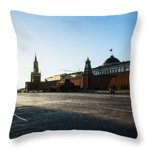 Architecture Throw Pillow featuring the photograph Moscow Red Square From North-west To South-east by Alexander Senin