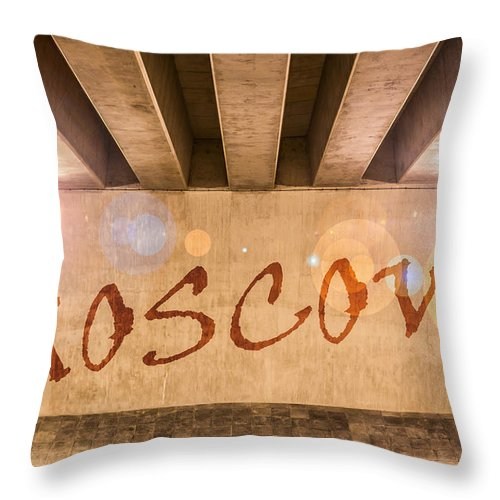 Abstract Throw Pillow featuring the photograph Moscow by Semmick Photo