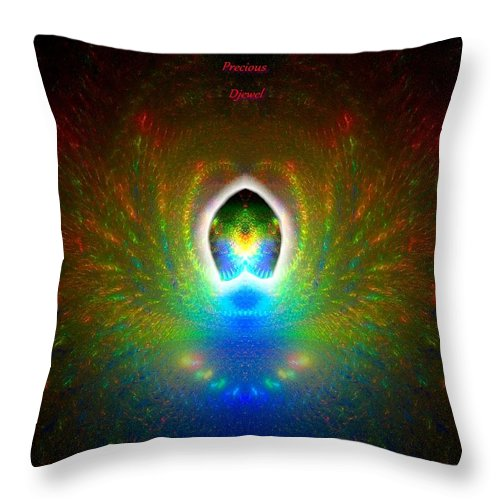 Love Throw Pillow featuring the digital art Most Precious Djewel. by Enjargo Art