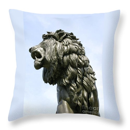 Statue Throw Pillow featuring the photograph Mostly Mane by Ann Horn