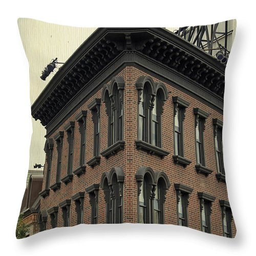 Hotel Throw Pillow featuring the photograph Motel Facade by Laurie Perry